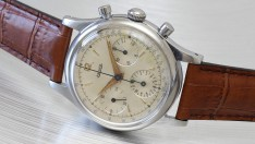 Jaeger Oversized Steel Chronograph 1950s