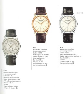 Patek Philippe catalog 2005, click to enlarge